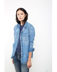 NSF | Blue Lesli Shirt | Lyst