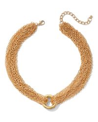 New York & Company - Metallic Goldtone Chain-link Collar Necklace - Lyst