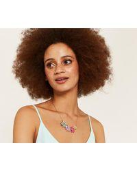 Oasis - Multicolor Sparkle Flower Necklace - Lyst