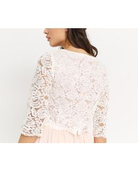Oasis - White Lace Button Back Top - Lyst