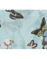 Oasis - Blue Butterfly Print Scarf - Lyst
