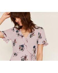 Oasis - Pink Long Nhm Frill Tea Dress - Lyst