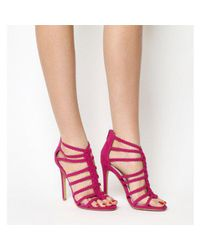 dd4e6c394efe17 Lyst - Office Adder Plait Strap Single Sole in Pink