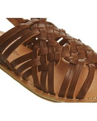 Office - Brown Bongo Woven Sandals - Lyst
