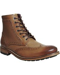 Ted Baker - Blue Sealls 3 Brogue Boot for Men - Lyst