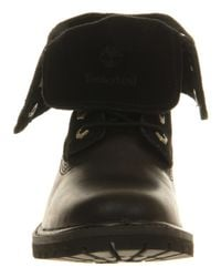 Timberland - Black Authentic Suede Roll Top - Lyst