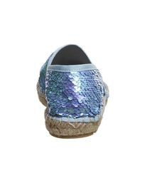 Office - Blue Demi Sequin Espadrilles - Lyst