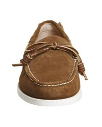 Ralph Lauren Brown Millard Boat Shoes for men