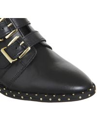 Office - Black Amsterdam- Multi Buckle Studded Boot - Lyst