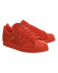 Adidas - Red Superstar 80s - Lyst