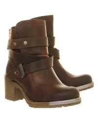 Fly London | Brown Lok Strap Ankle Boots | Lyst