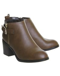 Office - Brown Academy Double Zip Boots - Lyst