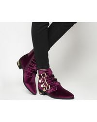 Office - Purple Alabama Multi Buckle Western Boots - Lyst