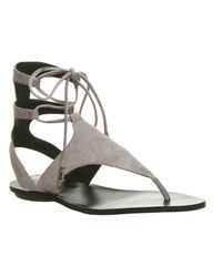 Kendall + Kylie - Natural Faris Ankle Tie Sandals - Lyst