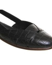 Office - Black Doodle Woven Slip On Shoes - Lyst