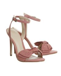 Office - Pink Harmony Bow Trim Sandals - Lyst