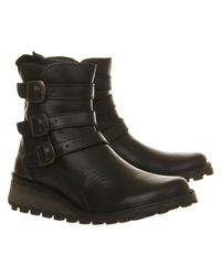Fly London | Black Myso Wedge Ankle Boot | Lyst