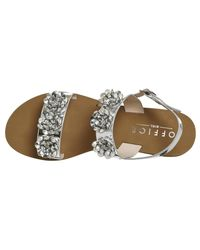 Office - Metallic Syrup Sling Back Sandals - Lyst