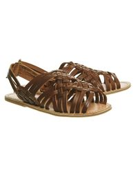 Office - Brown Bongo Woven Sandals - Lyst