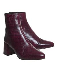 Office - Purple Alexia Block Heel Boots - Lyst