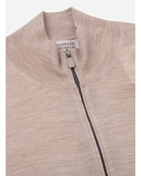 Brunello Cucinelli - Natural Regular-fit Cashmere-wol Ritsvest Beige for Men - Lyst
