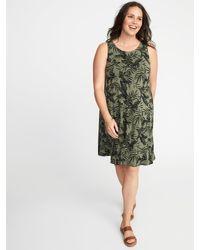 f2e1b14c1f038 Lyst - Old Navy Sleeveless Plus-size Jersey-knit Swing Dress