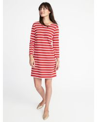0c28f725c2e Lyst - Old Navy Jersey-knit Shift Dress in Red