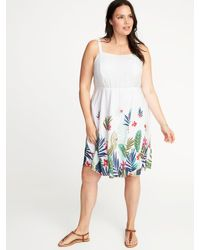 a1104b4abcc Lyst - Old Navy Plus-size Fit   Flare Cami Dress in White