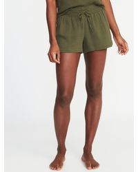 8e2998100b Old Navy Smocked-waist Swim Cover-up Shorts in Green - Lyst