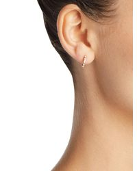 EF Collection - Multicolor Diamond Baguette Huggie Earrings - Lyst