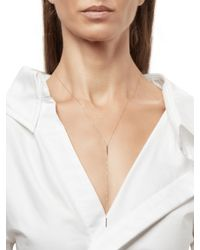 Adina Reyter - Metallic Pavé Double Bar Lariat Necklace - Lyst