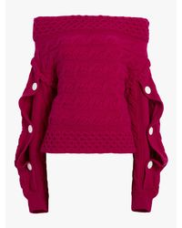 Hellessy - Multicolor Dorian Off-the-shoulder Sweater - Lyst