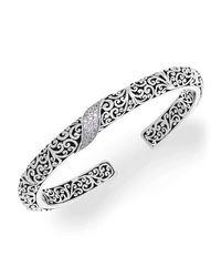 Lois Hill - Metallic Diamond Cut Out Cuff - Lyst