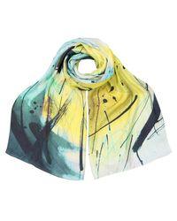 Oliver Bonas - Multicolor Scribble Silk Scarf - Lyst