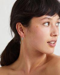 Oliver Bonas - Blue Nou Hoop & Sphere Turquoise Silver Earrings - Lyst