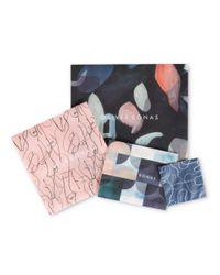Oliver Bonas - Pink Nigella Petal & Cord Necklace - Lyst