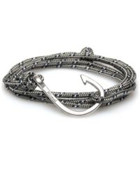 Miansai | Metallic Grey Rope Silver Hook Bracelet for Men | Lyst