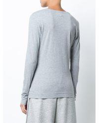 Adam Lippes - White Pima Cotton Long Sleeve Crewneck T-shirt - Lyst