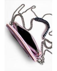 Zadig & Voltaire - Pink Rock Nano Metal Clutch Bag - Lyst