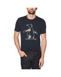 Original Penguin - Blue Birds Of Paradise Tee for Men - Lyst