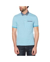 Original Penguin - Blue Stripe Chambray Collar & Pocket Polo for Men - Lyst