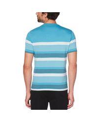 Original Penguin - Blue Blocked Stripe Tee for Men - Lyst