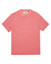 Original Penguin - Pink Linen Cotton Tee for Men - Lyst