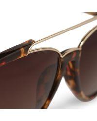 Orlebar Brown - Brown Aviator Sunglasses - Lyst