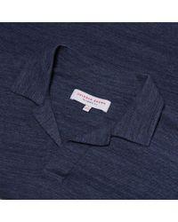 Orlebar Brown - Blue Felix Pique Navy/cloud Melange Pique Resort Polo for Men - Lyst