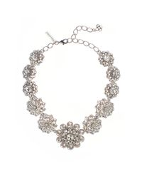 Oscar de la Renta | Metallic Swarovski Crystal Necklace | Lyst