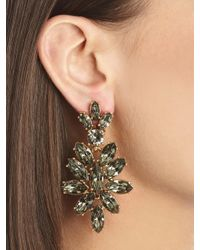 Oscar de la Renta | Black Swarovski Crystal Navette Drop Earrings | Lyst