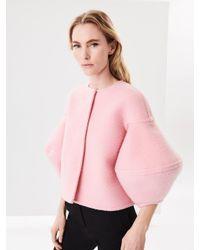 Oscar de la Renta - Pink Shaggy Wool-cashmere Jacket - Lyst