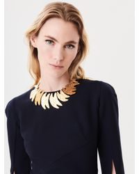 Oscar de la Renta - Metallic Hammered Fish Necklace - Lyst