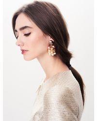 Oscar de la Renta - Multicolor Rose Gold Pearl Vine Earrings - Lyst